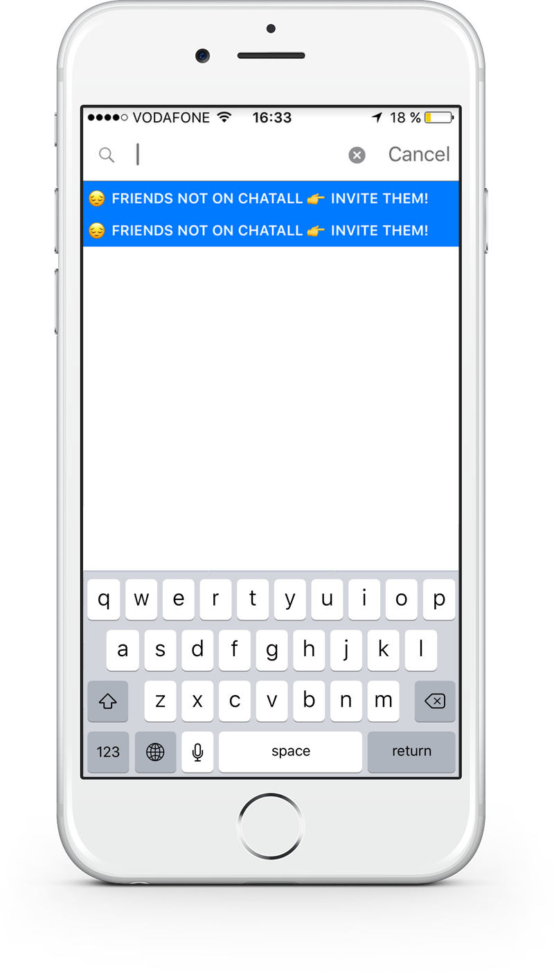 ChatAll app - searching a nonexistent user bug / Weekly bug crawl by QAwerk