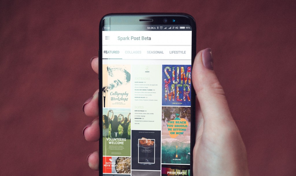 Weekly bug crawl by QA outsourcing company QAwerk: Adobe Spark Post for Android