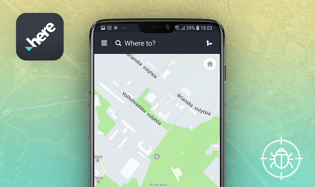 QAwerk Bug Crawl: Bugs found in HERE WeGo for Android