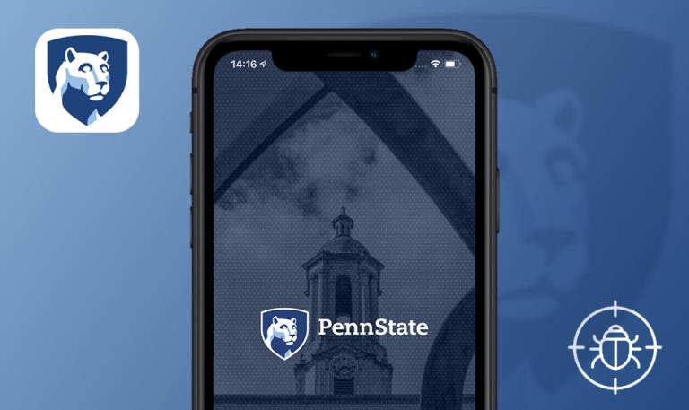 Bugs found in Penn State Go for iOS: QAwerk Bug Crawl
