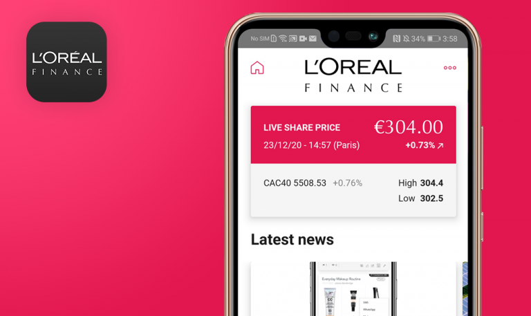 Bugs found in L'Oréal Finance, investors for Android: QAwerk Bug Crawl